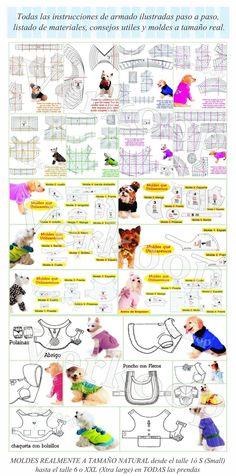moldes de ropa para perros - Buscar con Google                                                                                                                                                                                 Más