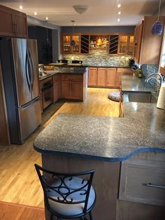Our Diy Kitchen Project Features 82 Square Feet Of Concrete Countertop Using Pigment 230 To