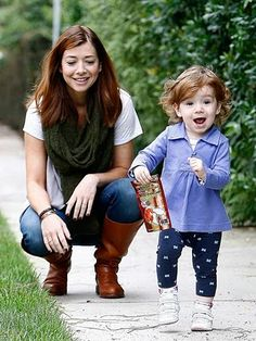 Alyson Hannigan and Satyana - Sooooo adorable!