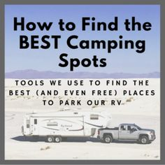 Tips from full-time RVers on how to find the best (and sometimes FREE) spots to park your RV for camping or living! This post suggests the best apps, websites, and memberships to use. Camping Places, Camping Spots, Camping World, Camping Cabins, Rv Parks, State Parks, Rv Camping Checklist, Camping List, Kids Checklist
