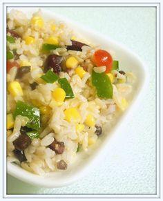 BIZZY BAKES: Confetti Rice, Corn & Bean Salad