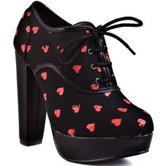 booties Rip My Heart Lace Up Plat - Black by Iron Fist