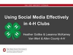 How can your Club use social media effectively? 4 H Clover, 4 H Club, Texas County, Programming Tools, Van Wert, Youth Leader, Leadership Programs, Digital Technology, Getting To Know You