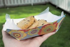 how to make paper food baskets