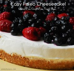 Cheesecake. Paleo. These two things do not go together.Unless, that is, you blow up the rules for what a cheesecake should be.For example, that it should have cheese. And eggs. And a graham cracker crust.Before you throw yourself off a bridge in despair, hear my cry: my Paleo version of ...