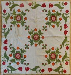 297: Pennsylvania appliqué quilt, late 19th c., in t : Lot 297