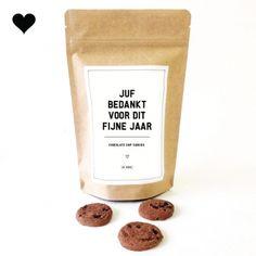 Juf bedankt - Chocolate Chip Cookies