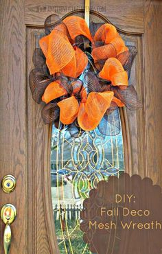 Deco Mesh Wreath  -