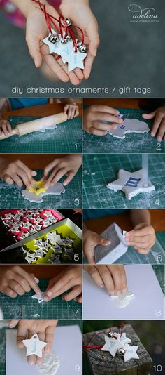 easy diy ornaments - kids craft - salt dough or modeling clay