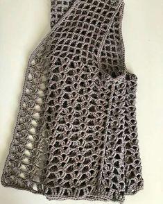 Fabulous Crochet a Little Black Crochet Dress Ideas. Georgeous Crochet a Little Black Crochet Dress Ideas. Gilet Crochet, Crochet Vest Pattern, Crochet Jacket, Crochet Cardigan, Crochet Scarves, Crochet Clothes, Crochet Patterns, Crochet Vests, Free Pattern