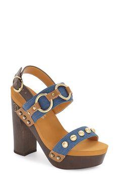 Flogg 'Entrada' Stud Harness Platform Sandal (Women)