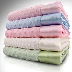 Velour Dot Baby Blanket - $29.00
