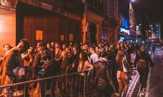 Clubbers queue for Fabric, Farringdon, London, regularly voted one of the best…
