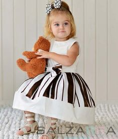 "Dress – ""Chocolate Kiss"", Very beautiful dress in white and chocolate-brown. by SALZARRA on Etsy"