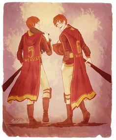 Fred e Jorge Weasley.
