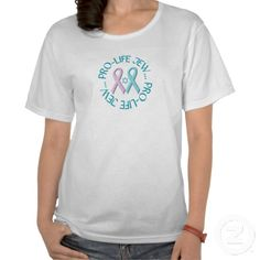 """""""Pro-Life Jew"""" w/Star of David & Ribbons Shirts  NEW! This design available on over 75 different products!  $23.95"""