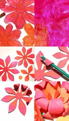 Flowers made out of scrapbooking paper started making paper flowers made out of scrapbooking paper started making paper flowers way before paper flowers were cool mommy day ideas pinterest scrapbooking mightylinksfo