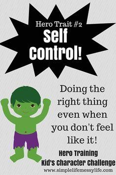 Hero Training - Kid's Character Challenge - Self Control
