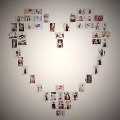 A heart of Polaroids