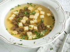 Weihnachtsmenü -Suppe-consomme double mit Eierstich -_mag