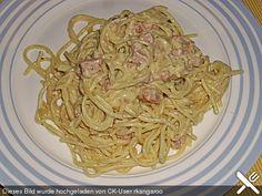 Spaghetti mit Schinken - Sahne - Soße