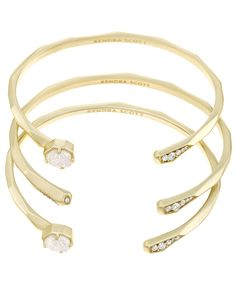 Blake Bangle Bracelet Set in Gold - Kendra Scott Jewelry.