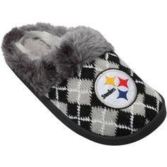 Pittsburgh Steelers Women's Argyle Fur Slide