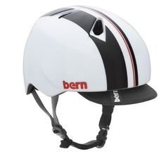 BERN Boys Adjustable Summer Gloss Helmet with Visor (White Racing Stripe, X-Small/Small) by Bern. $44.95. Fit system at back of the head customizes to the shape of the head, keeping it stable and comfortable.. Separate Winter liner can be purchased to convert to either cold weather bike riding, or for skiing/snowboarding. 18 7/8 - 20 1/4 in. The Lowest Profile Head Protection offering doesn't look like a spaceship landed on your head like other brands do.. Meets Safety Certificat...