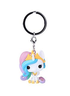 """Princess Celestia is given a fun, and funky, stylized look as an adorable key chain!<ul><li> 2"""" tall</li><li>Imported</li></ul>"""