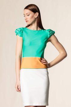 Vestito con dettaglio sulla manica #dressingfab #jersey #dress #vestito #shoponline #shopping