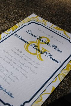 yellow and navy... perfect invitations!
