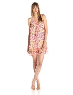 Trina Turk Womens Steph Mosaic Tiles Georgette Dress Multi 6 * Read more at the image link.