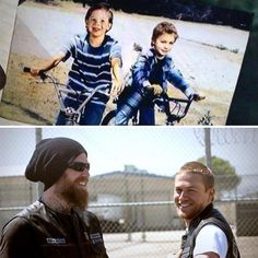 Jax and Opie when they were kids (Jax put this photo in Opies casket to be buried with him)