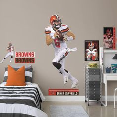 Baker Mayfield - Life-Size Officially Licensed NFL Removable Wall Decal  Fathead Baker Mayfield c285e424f