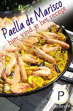 Paella Recept, Fish Dishes, Valencia, Bbq, Yummy Food, Pasta, Ethnic Recipes, Seafood, Barbecue