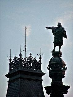 Monument a Colom   Barcelona  Catalonia