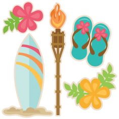 {FREE Cut File} Hawaii Set - Available for FREE for TODAY only, June 6