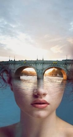 - The Bridge by Spanish Surrealist  Antonio Mora - #artwork #surrealism #art http://www.pinterest.com/TheHitman14/artwork/
