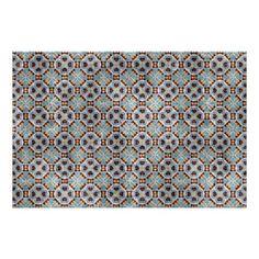 #classy - #Elegant Blue Brown Mosaic Kaleidoscope Pattern Poster