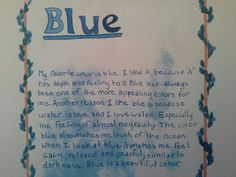 Waldorf ~ 6th grade ~ Physics: Light ~ Favorite Color ~ main lesson book
