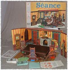1972 Milton Bradley - SEANCE game. I like that money is involved and it comes with a cool diorama.