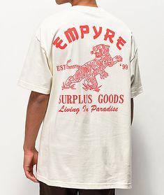 7a52cc3b3eb8 Empyre que vive no creme de Paradize Camiseta Cream T Shirts, Mens Fashion,  Fashion