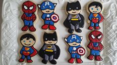 little super hero cookies by CoutureSweetTreats on Etsy, $39.00