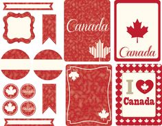"Free Canada's day cards for journaling or project life cards - Gratis tarjetas para project life o journaling para festejar el Día de Canadá. Big Circle ( 2""- 5 cm) , -ek- paper punche, ek perforadora."