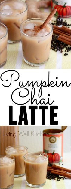 These Pumpkin Chai Lattes are the tea version of a pumpkin spiced latte. Using tons of warming spices makes this homemade version much healthier and even more delicious! Great way to introduce the fall season to your morning cuppa - definitely one to try dairy-free!