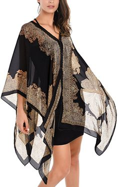 5 Color Sexy Women Chiffon Wrap Dress Sarong Beach Bikini Swimwear Cover Up Long Scarf - On Trends Avenue Scarf Top, Long Scarf, Print Chiffon, Chiffon Tops, Chiffon Kimono, Sheer Chiffon, Sarong Dress, Mens Cashmere Scarf, Poncho Tops