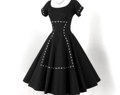 vintage 1950s dress  ...fab ERNEST DONATH togs and rigs true
