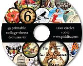 Digital Collage Sheet CDs and Art Prints