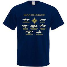 T-shirt uomo stampata 2,50€ Nodi marinari + scritta dorata della tua città! www.parisisouvenir.it
