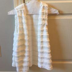 White faux fur vest Never worn white faux fur vest. Perfect condition Jackets & Coats Vests